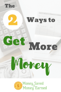 ways to get more money