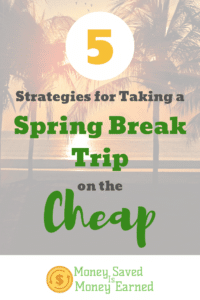 spring break trip on the cheap