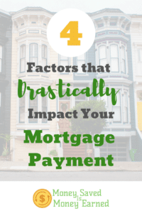 impact your mortgage payment