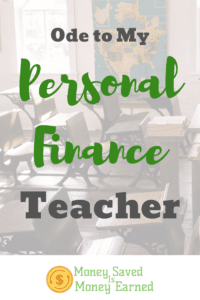 personal finance teacher