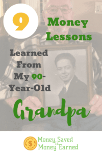 money lessons learned from my 90-year-old grandpa
