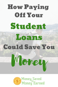 paying off your student loans could save you money