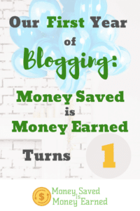 our first year of blogging