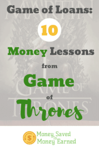 money lessons from Game of Thrones