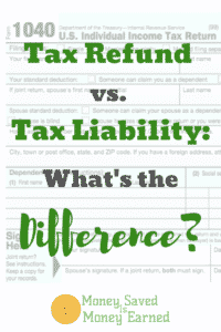 tax refund vs. tax liability