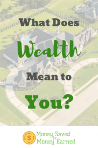 what does wealth mean to you