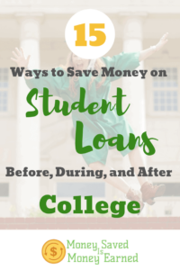 ways to save money on student loans