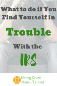 in trouble with the IRS