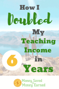 how I doubled my teaching income