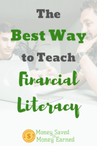 the best way to teach financial literacy