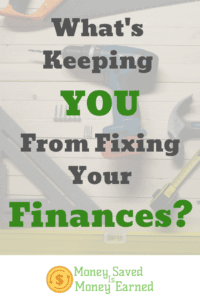 what's keeping you from fixing your finances