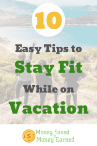 stay fit on vacation
